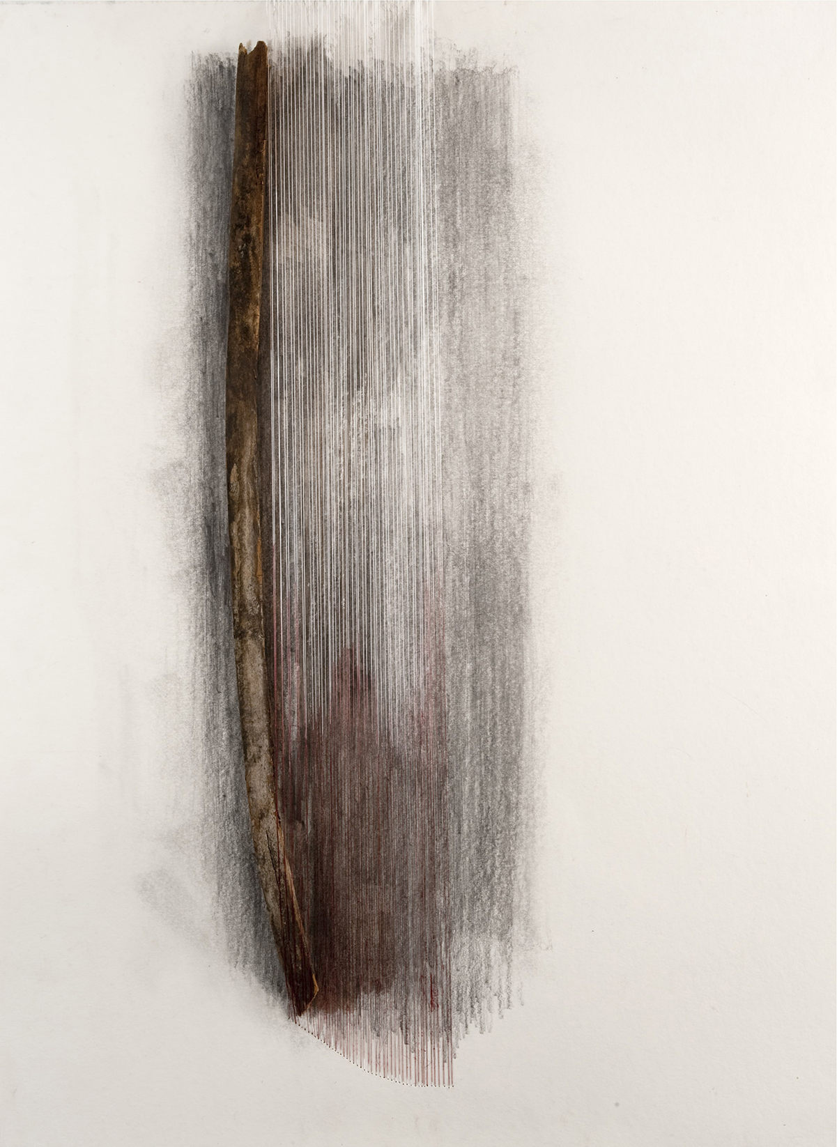 TRACES   Found wood, pencil, paper, thread  30 x 22 Inches