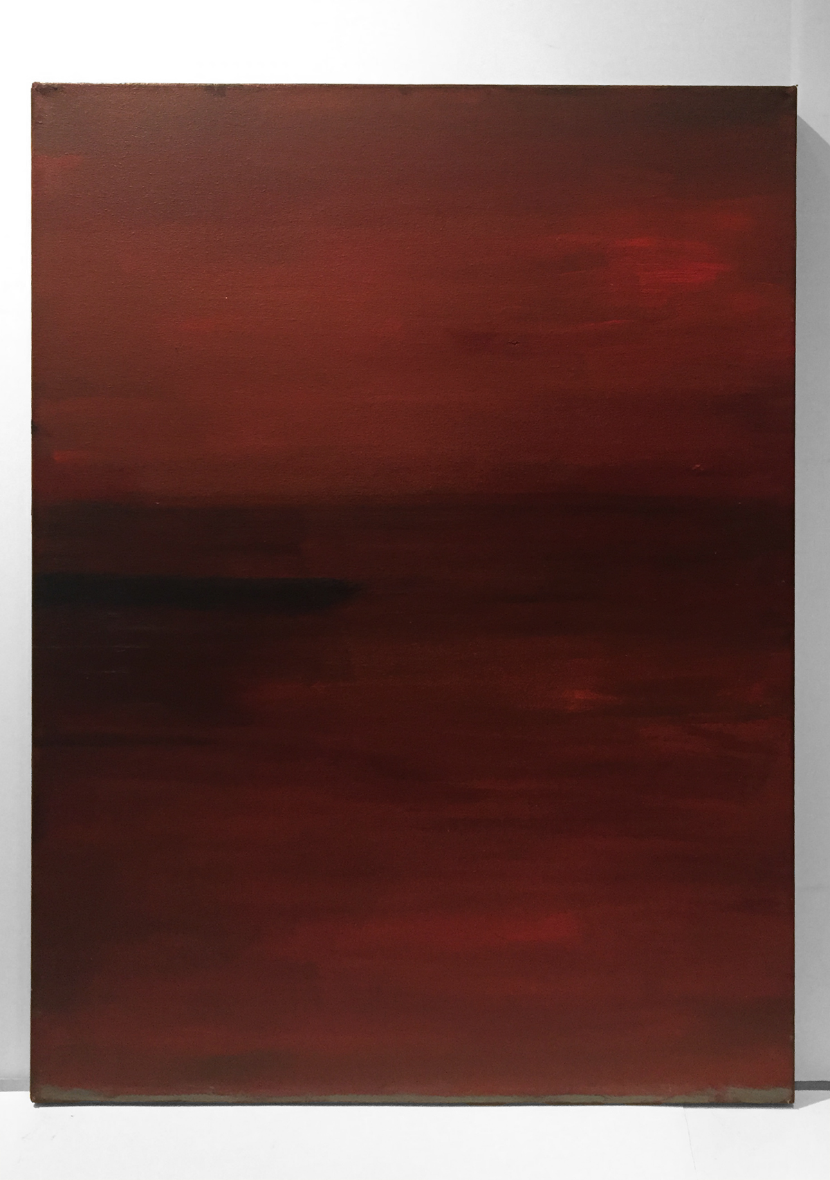 RED EVENING   Acrylic, canvas  36 x 27 Inches