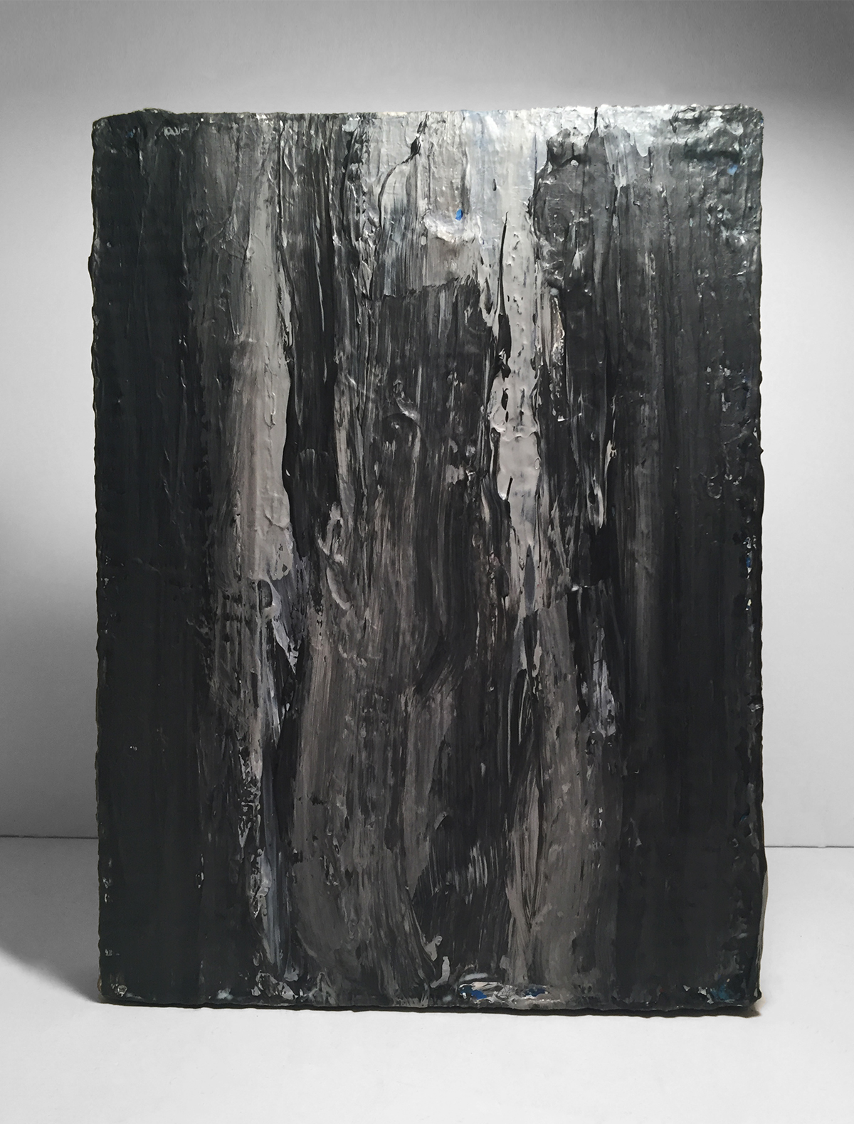 STUDY FOR A WATERFALL   Acrylic, canvas  12 x 9 Inches