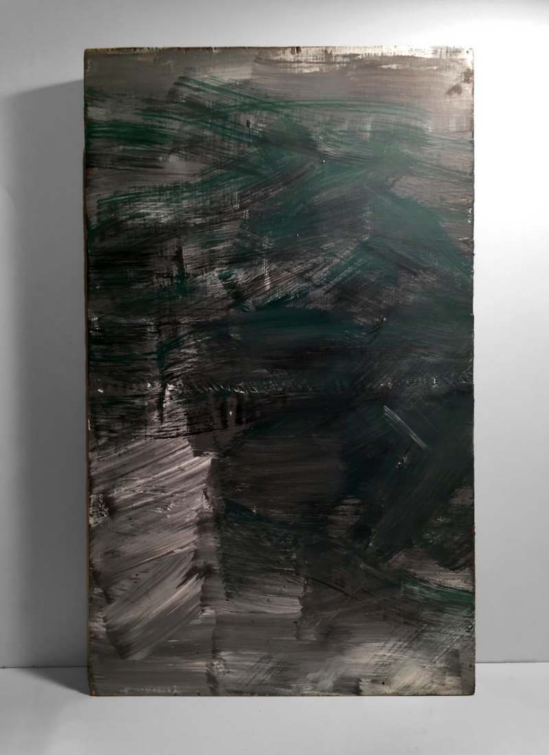 GREEN EVENING   Acrylic, wood  20 x 12 Inches
