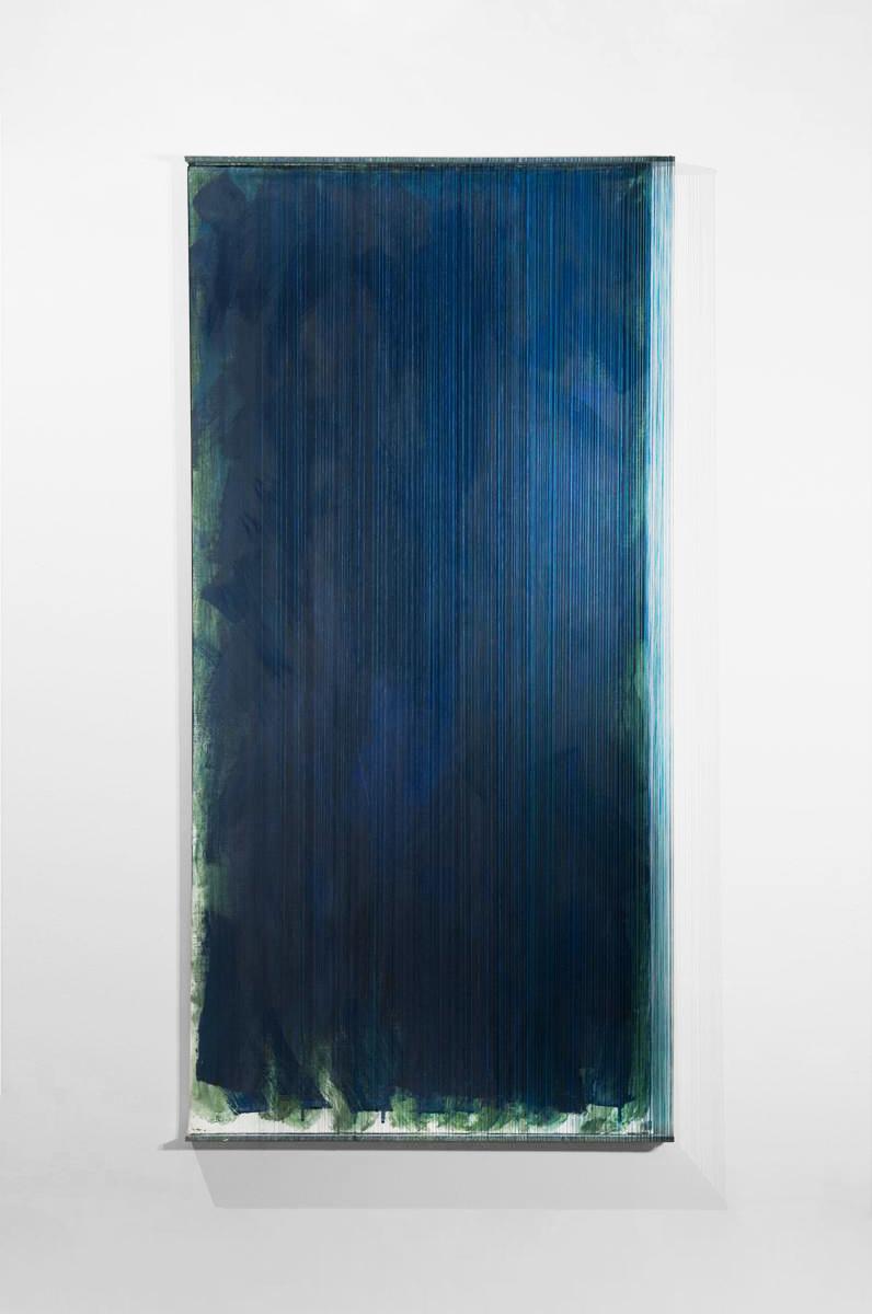 AFTER RAIN   Acrylic, canvas, thread  46 x 23 Inches