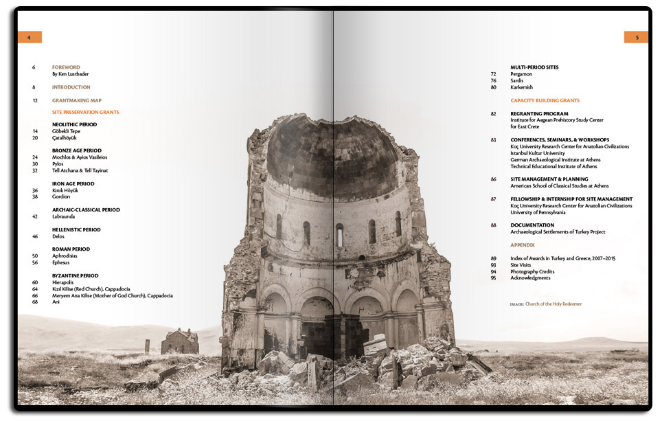 Table of contents page.