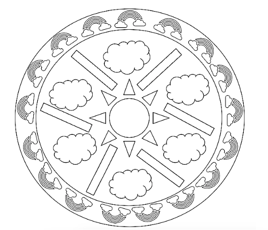 Sun Mandala coloring page | Free Printable Coloring Pages | 457x532