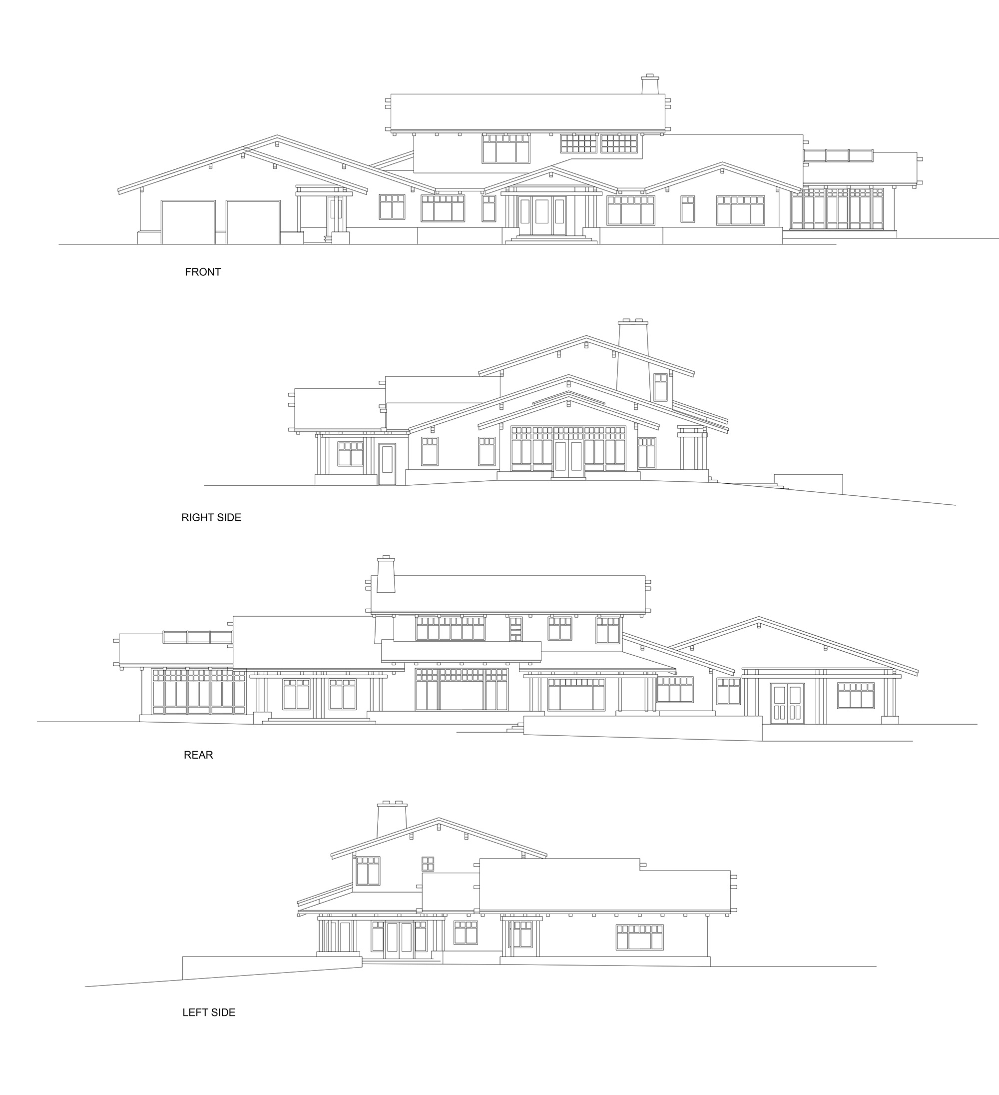 Main House Elevations