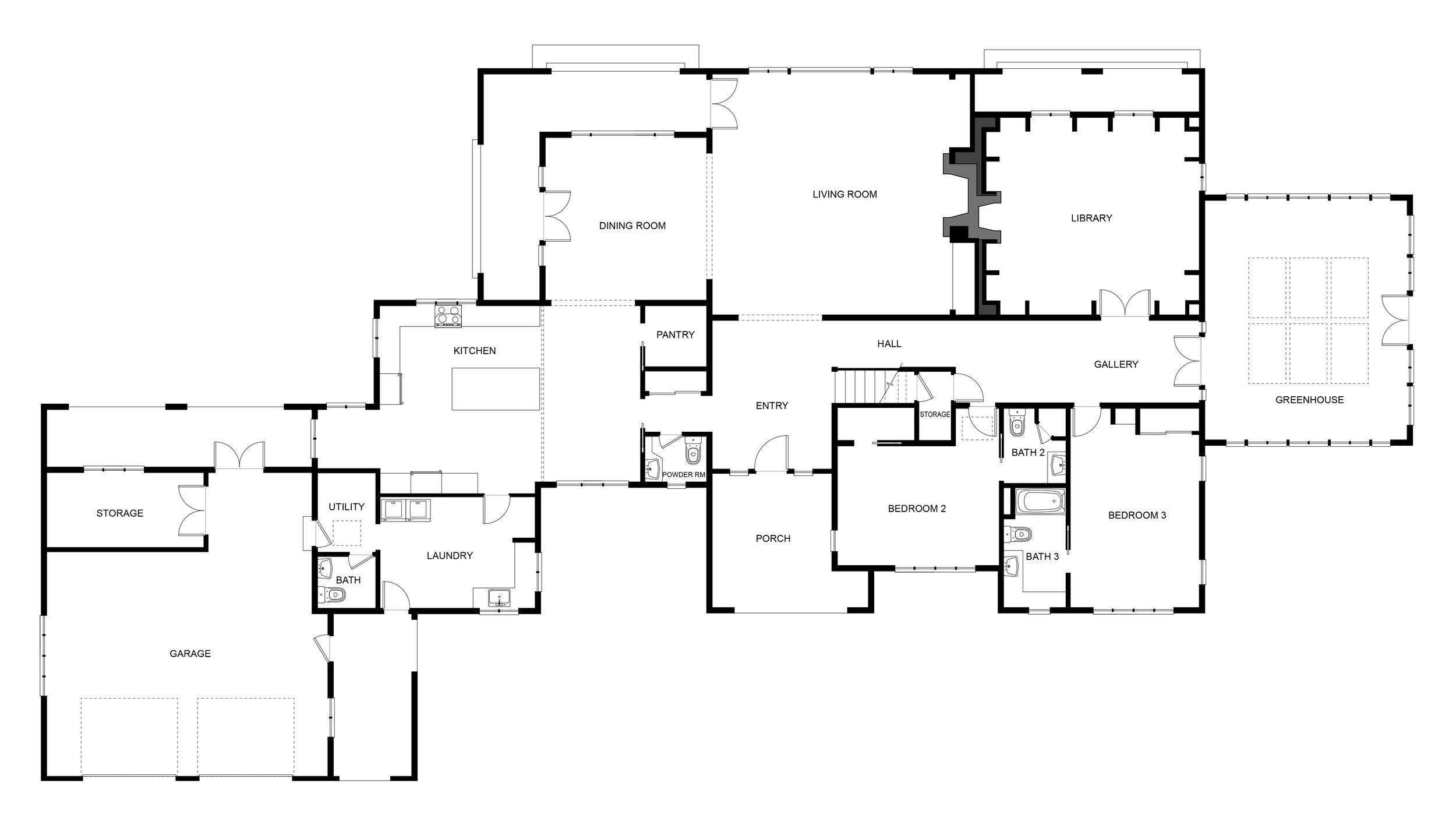 Main House Floor Plan  - Level 1