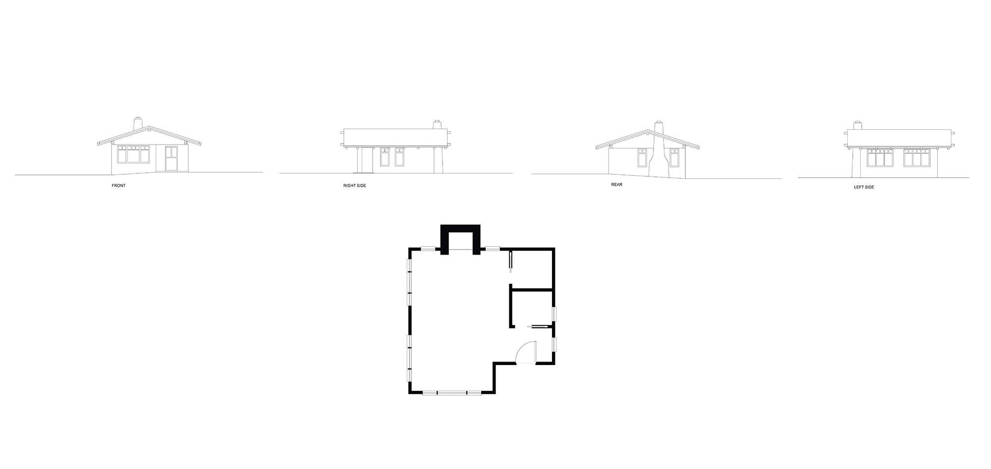 Studio Elevations & Floor Plan