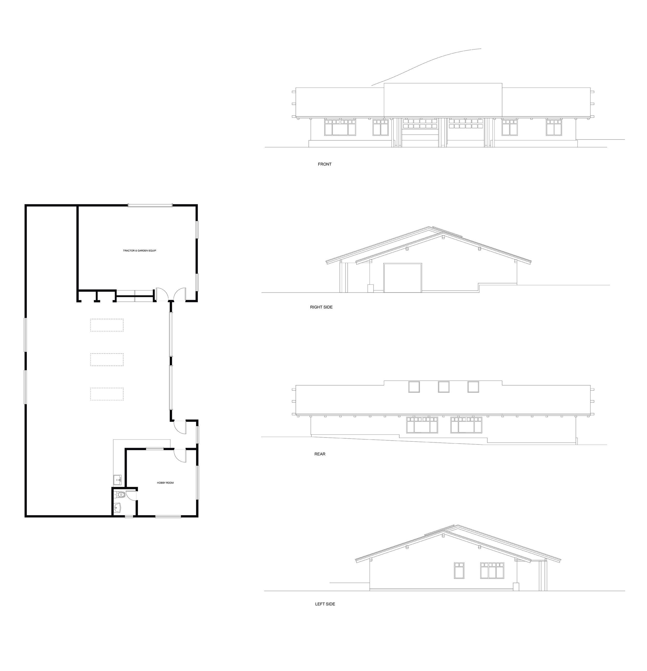 Garage Elevations & Floor Plan