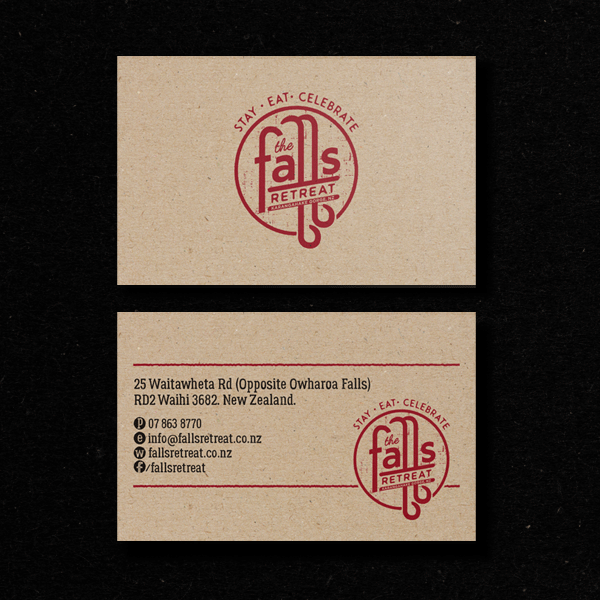 The Falls Retreat Business Card Design