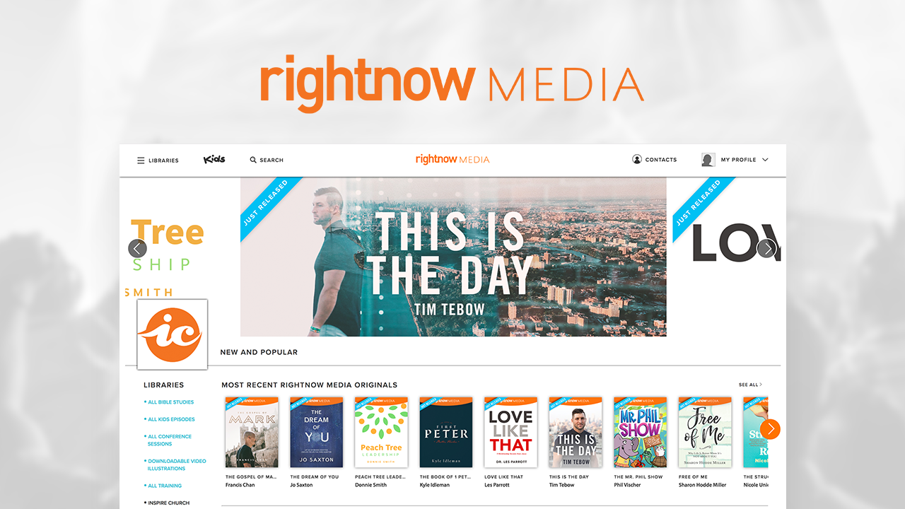Sign Up for Right Now Media for FREE!