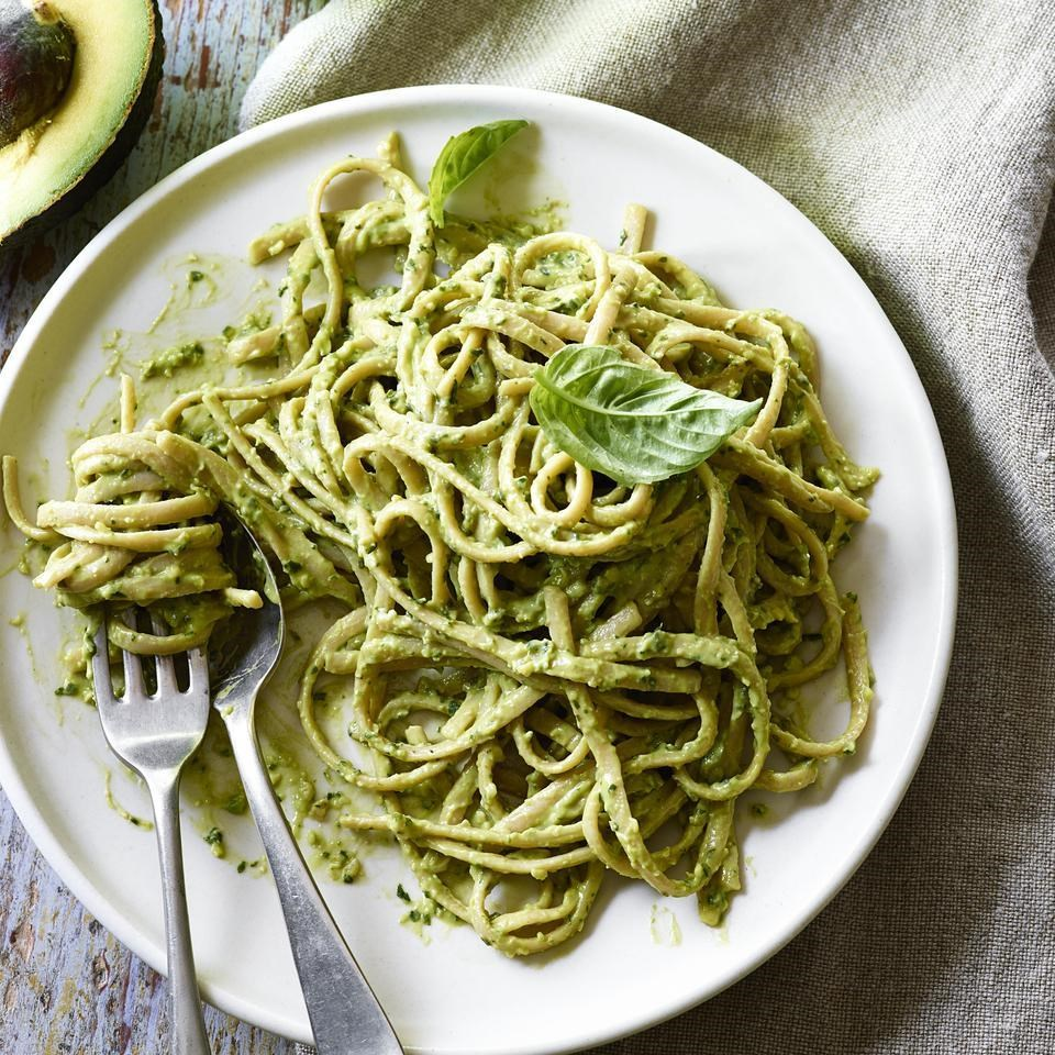 pesto pasta on plate with fork.jpg