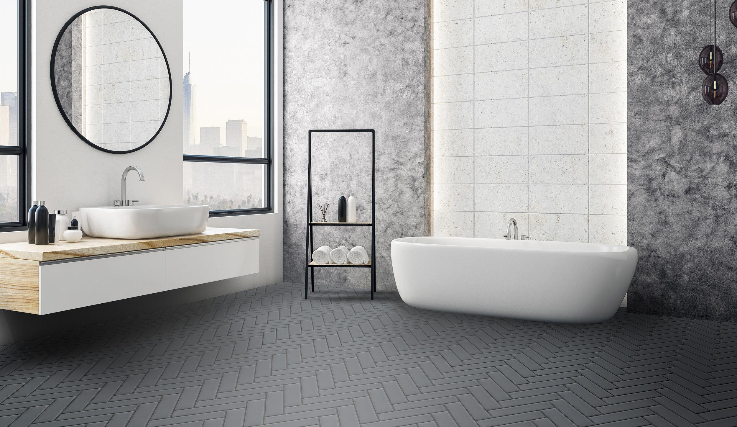 "2'"" x 8"" of  SB17 as Floor tiles"