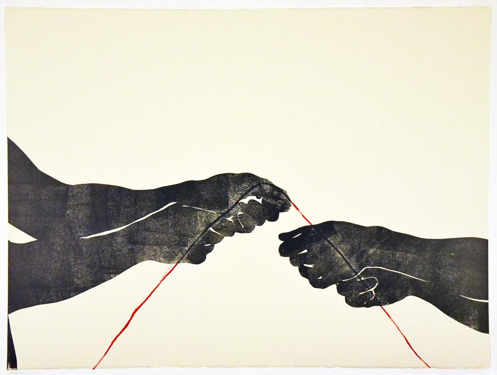 Untitled (Four Hands, 2018)   Unique print  2018