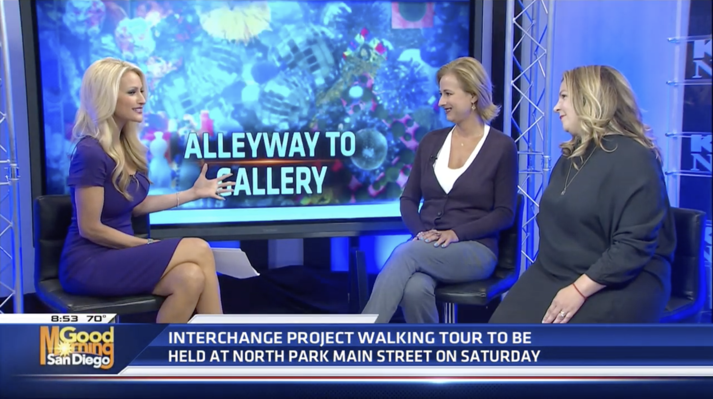 On Thursday, August 1st 2019 North Park PBID Executive Director Angela Landsberg & project co-curator Emily Knapp joined KUSI's Lauren Phinney to discuss the Interchange Project. Click through to see the full clip.