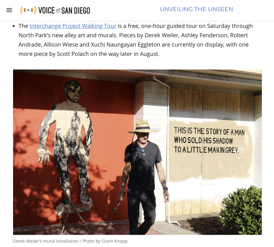 Voice of San Diego included the Interchange Project in their weekly round-up.