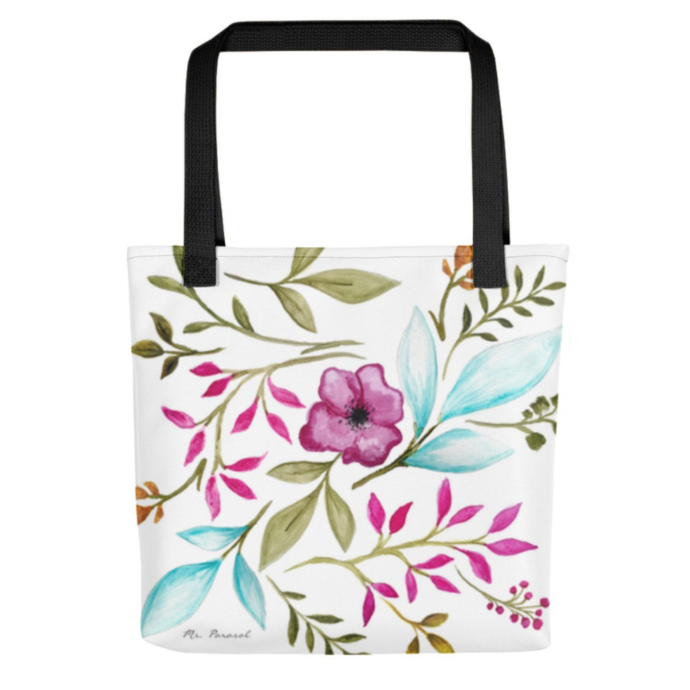 Watercolor Tote Bag available on  Etsy