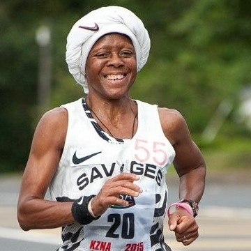Queen of the Road - Blanche Moila. - Savages AC legend, Blanche made history in 1984 when she became the first black female athlete to be awarded Springbok Colours. Over the years she has become a sporting icon who has won more than 50 KZN road running, cross-country and track races. She has held national titles and records over various distances and has received many awards for her achievements as an athlete. These days Blanche devotes her time to the development and training of young female athletes, and her petite figure and distinct turban are still seen at many races.Keep up with Blanche on FB ➝