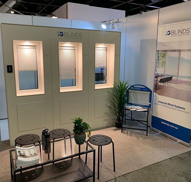 Come and see us at #designbuild2019 for all your Integral blinds needs, see both Residential and commercial systems on display.. . . . #internalblindsystems #tradeshows #residentialarchitecture #commercial #igblinds #sunbellworld #doubleglazedblinds #integralblinds #integratedblinds #architecture #interiordesign #australianwindowassociation #nocleaning