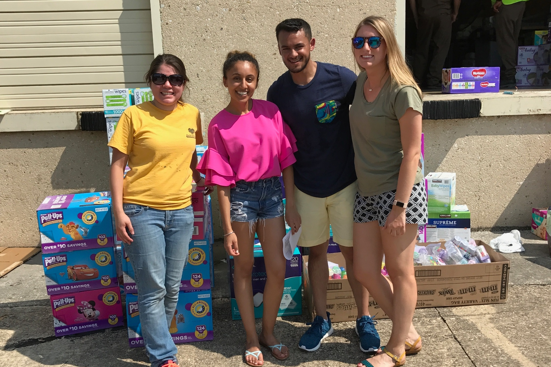 - We are currently working on disaster relief activities to help Hurricane Irma victims in Miami, Florida area, and relief planning and activities for Puerto Rico. Right after Hurricane Harvey, our team has delivered baby diapers, baby wipes and milk bottles to Hurricane Harvey Evacuees in shelters in San Antonio, Texas.