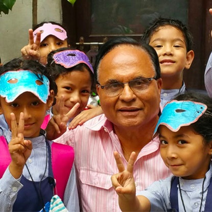 - A school in Kathmandu was adopted and in the second round of humaitarian aid, the children were provided with uniforms, school supplies, toys, bicycles, blackboard, winter clothing etc. IMMUSA's relief operations were acknowledged by the Prime Minister, Sushil Koirala, who met with Satish Mehtani in his office to thank and congratulate him for the tremendous humanitarian work done by IMMUSA during the most critical period in the aftermath of the earthquakes.