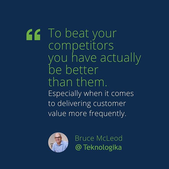 To beat your competitors  you have actually be better than them. - - Especially when it comes to delivering  customer value more frequently. - - - - - #agile #agiledevelopment #agilemethodology⁠⠀⁠ #scrum #scrummaster #productowner  #continuousintegration #continuousdelivery ⁠⠀⁠ #cicd⁠⠀⁠#UX #devops #devopstools⁠⠀⁠#jenkins #docker⁠⠀⁠ #code #coding #dev #developer #javascript⁠⠀⁠ #programming #programmer⁠