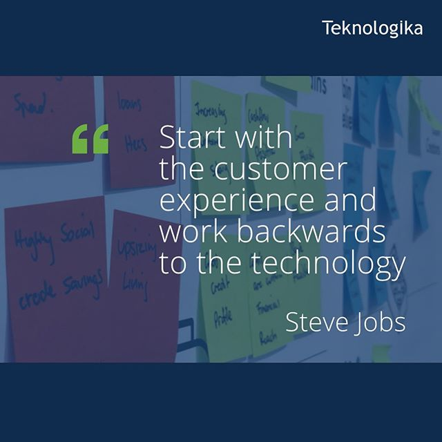 """You have to start with the customer experience and work backwards to the technology."" - Steve Jobs - - #agile #agiledevelopment #agilemethodology⁠⠀⁠ #scrum #scrummaster #productowner  #continuousintegration #continuousdelivery ⁠⁠#UX #code #coding #dev #developer #javascript⁠⠀⁠ #programming #programmer⁠⠀"