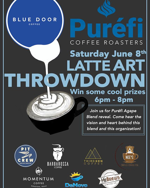 Join us on June 8th for Puréfi Agape Blend Reveal. Come hear the vision and heart behind this blend and this organization! Throughout the night there will be prize giveaways by raffles handed out upon entry at the door.  Where: At Blue Door Coffee Company 21 Waterway Ave, Spring, TX  77380, United States Time: 6pm-8pm  See y'all there 💙✨ - - - - #bluedoorcoffee #coffeeshop #coffee #thewoodlandstx #thewoodlandswaterway #thewoodlandstexas #cafe  #cafelife #caffeine #hot #mug #drink #coffeeaddict #coffeegram #coffeeoftheday #cotd #coffeelover #coffeelovers #coffeelove #coffeemug #coffeeholic #coffeelife #parlorcoffee