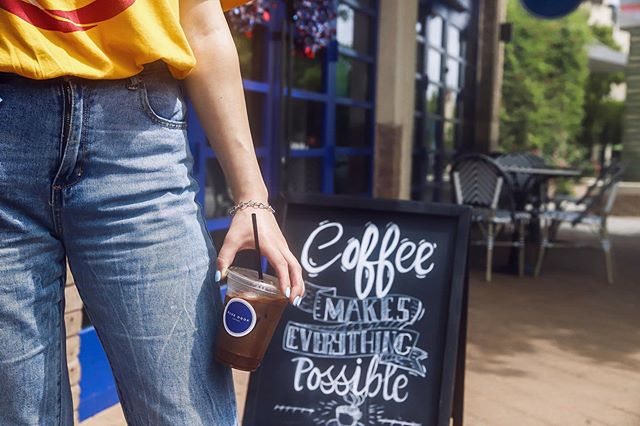 Beating the heat one Latte at a time ✨ - - - - #thewoodlands4th #bluedoorcoffee #4thofjuly #july4 #coffeeshop #coffee #thewoodlandstx #thewoodlandswaterway #thewoodlandstexas #cafe  #cafelife #caffeine #hot #mug #drink #coffeeaddict #coffeegram #coffeeoftheday #cotd #coffeelover #coffeelovers #coffeelove #coffeemug #coffeeholic #coffeelife #parlorcoffee