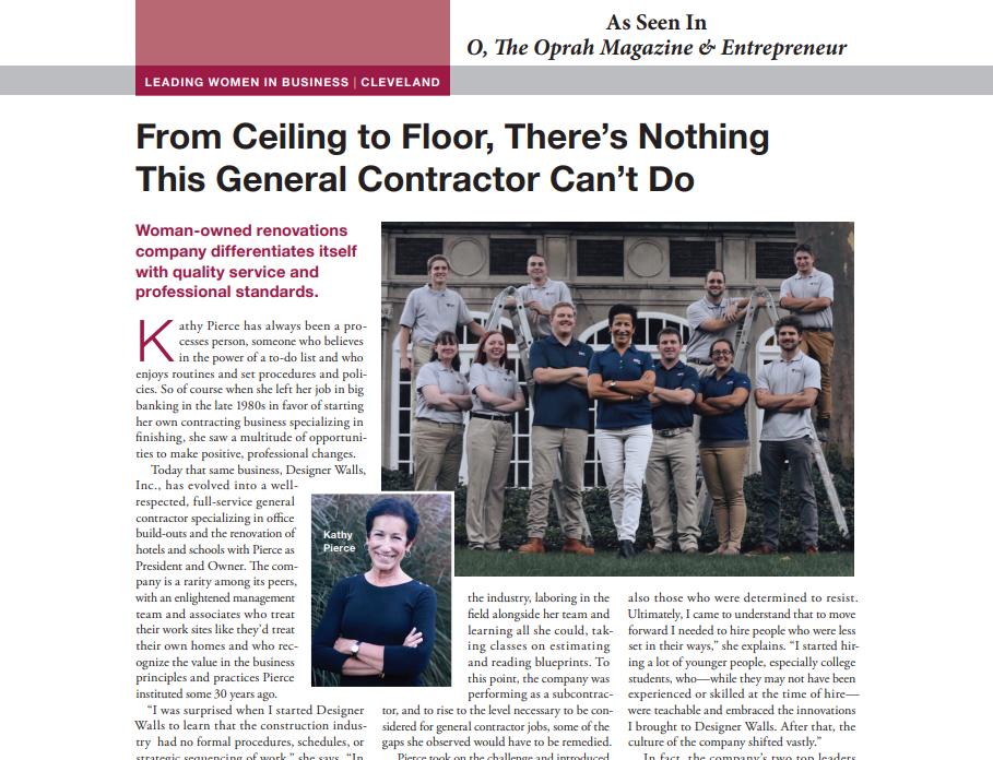 Designer Walls Oprah Magazine Article Kathy Pierce