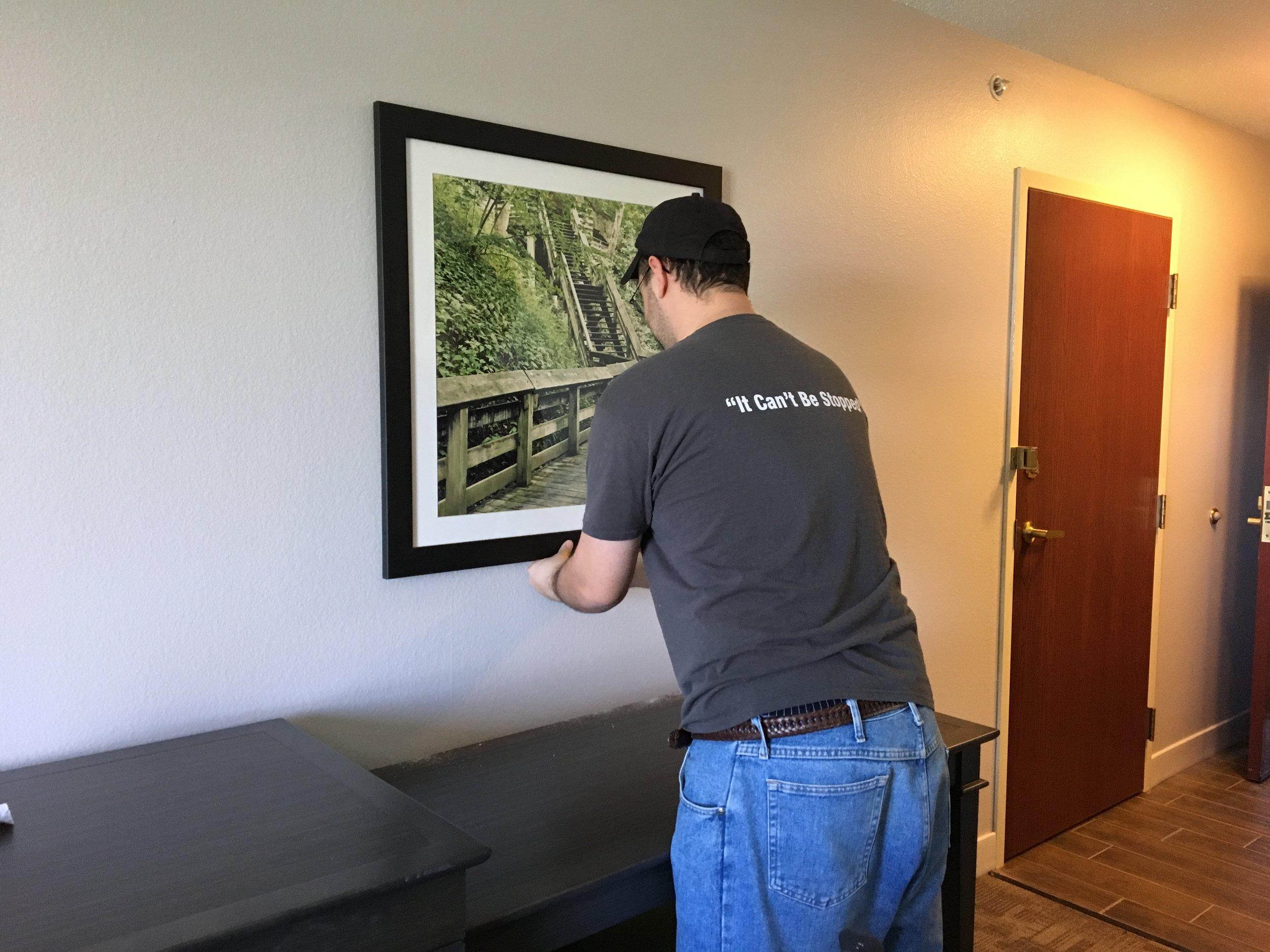 FF&E installer stow Designer walls inc