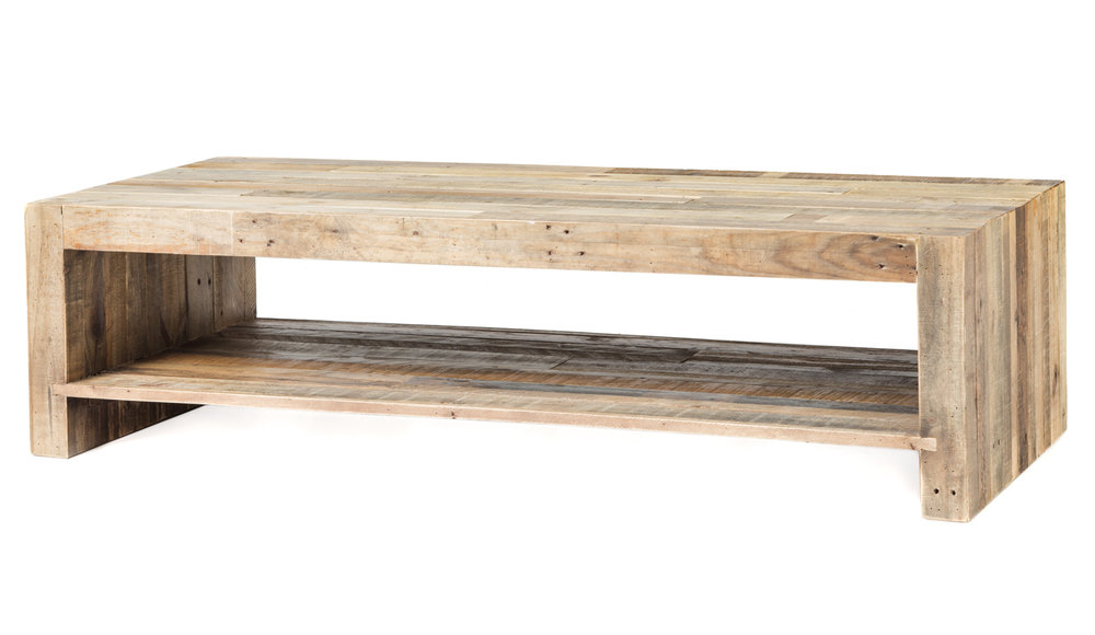Beckham Reclaimed Wood Coffee Table Kennedy Collection