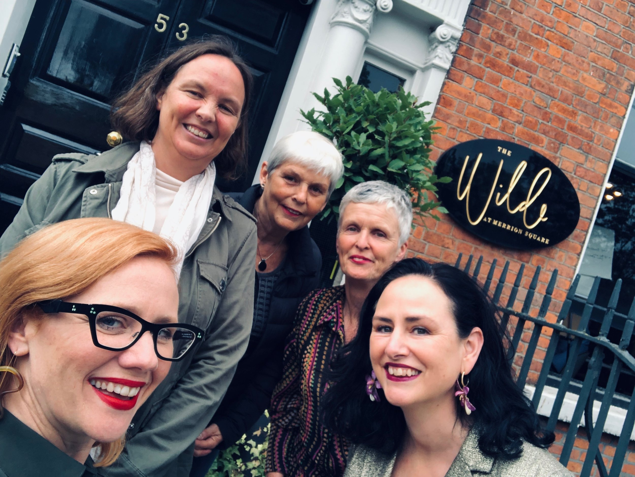 The Dublin Human Givens Team  L-R: Cathriona, Trish, Sue, Avril and Anne-Marie are all fully qualified and accredited Human Givens psychotherapists.