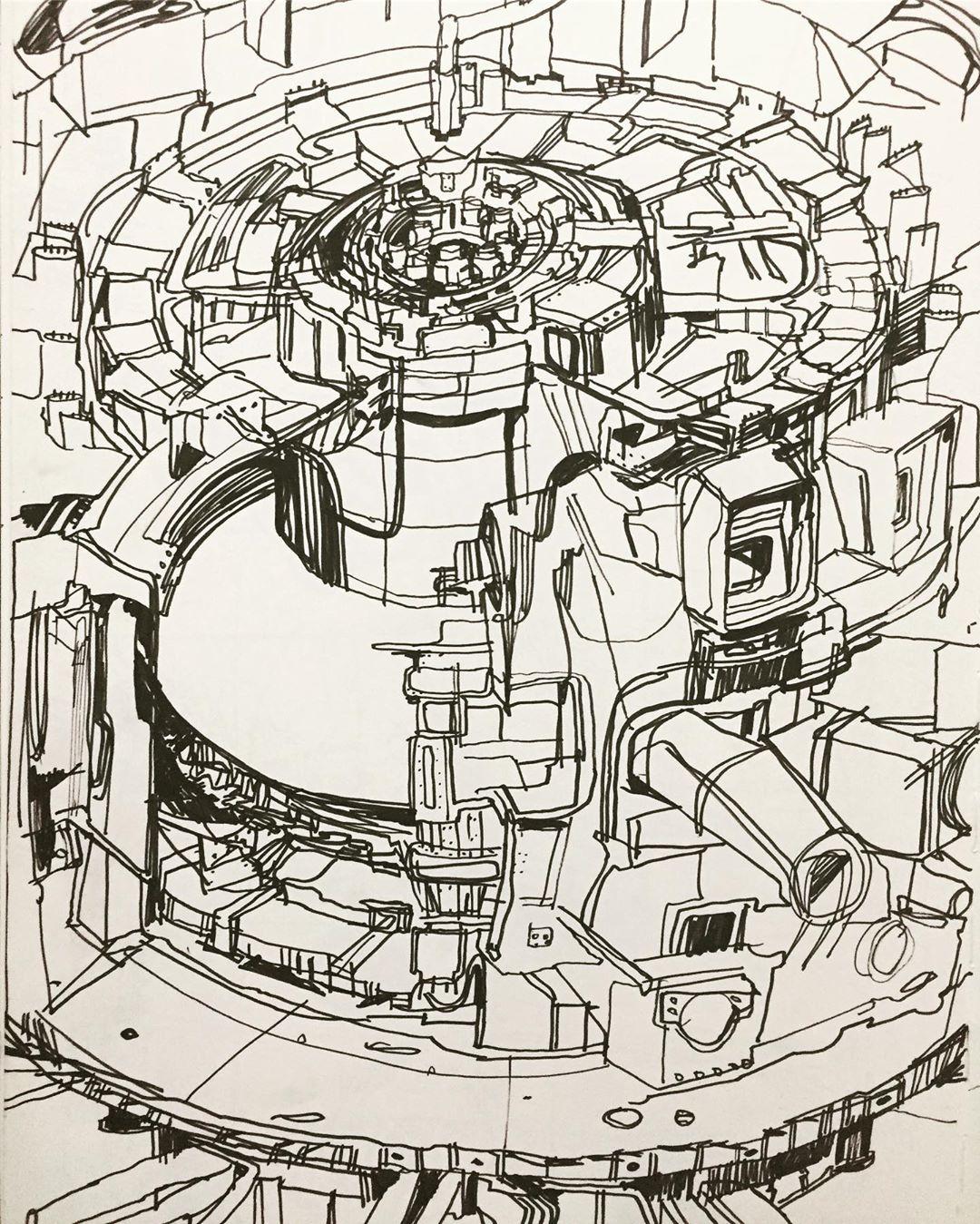 """Fusion Reactor"", Marker, 12"" x 18"""