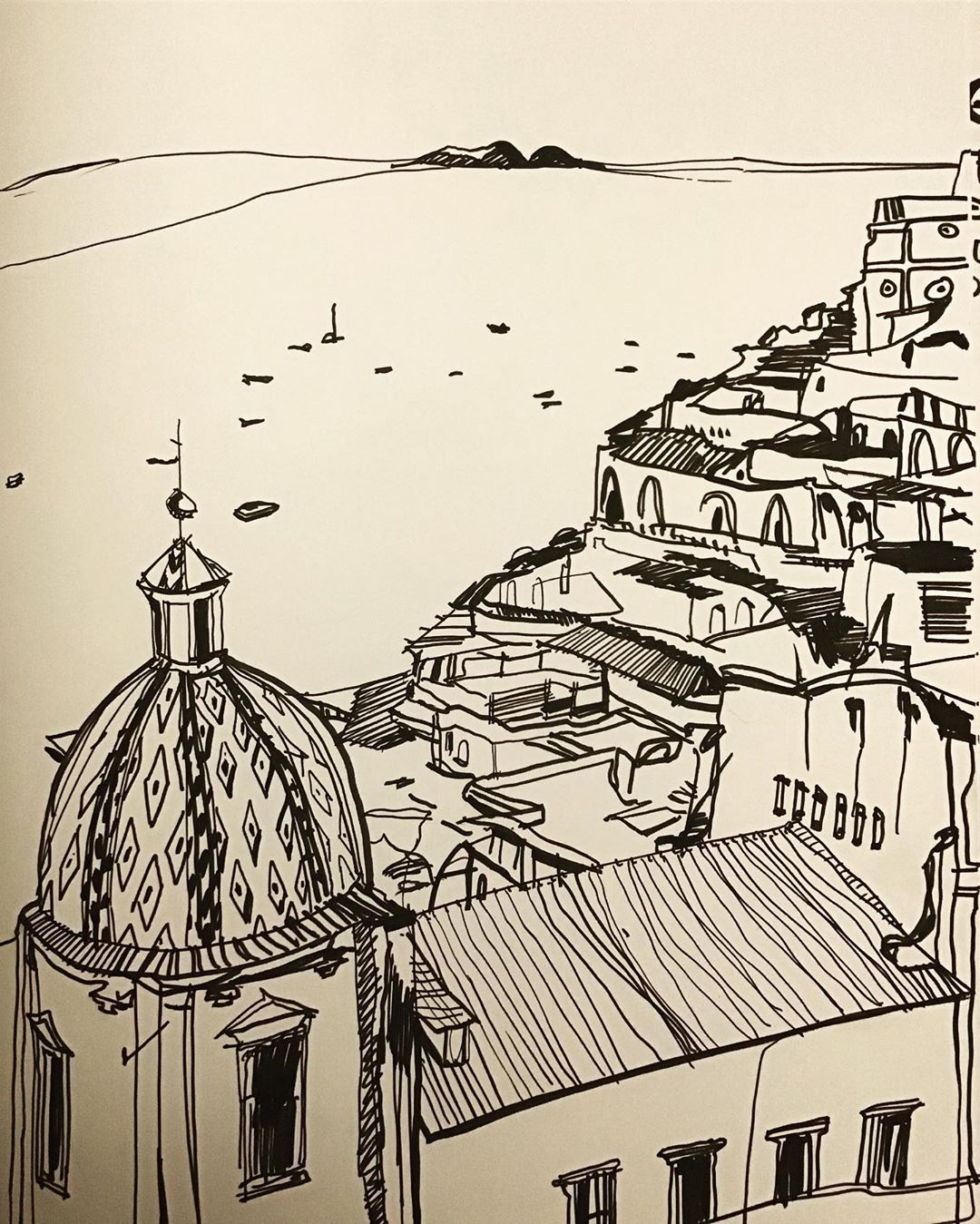 """Naples"", Marker, 12"" x 18"""