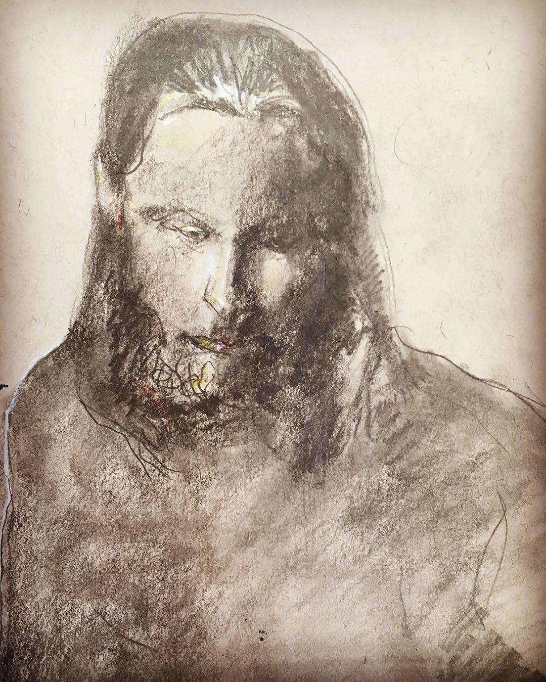 """""""Portrait of a Man"""", Graphite, 12"""" x 18"""""""
