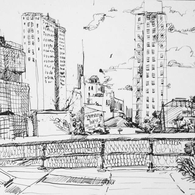 """""""Chelsea High Line"""", Ink, 12"""" x 18"""""""