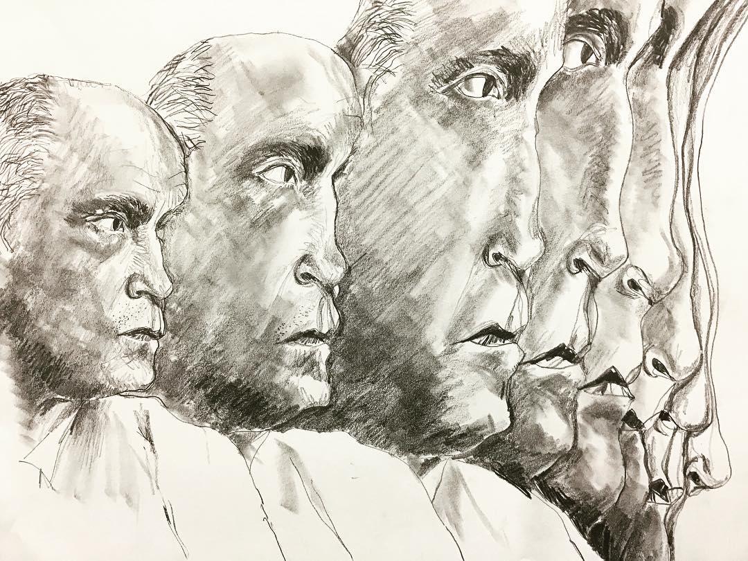"""Drawing John Malkovich"", Graphite, 12"" x 18"""