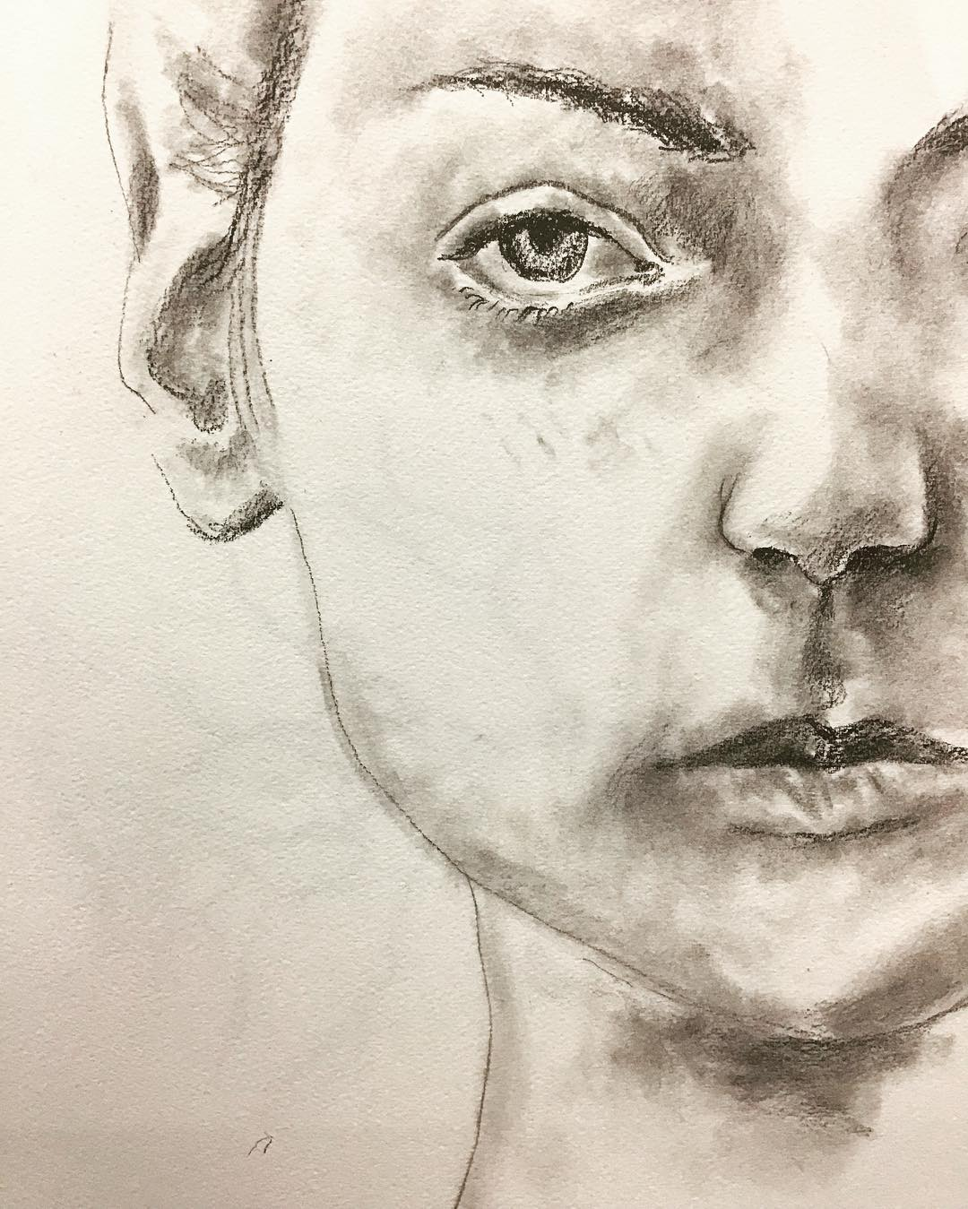 """Portrait"", Graphite, 12"" x 18"","