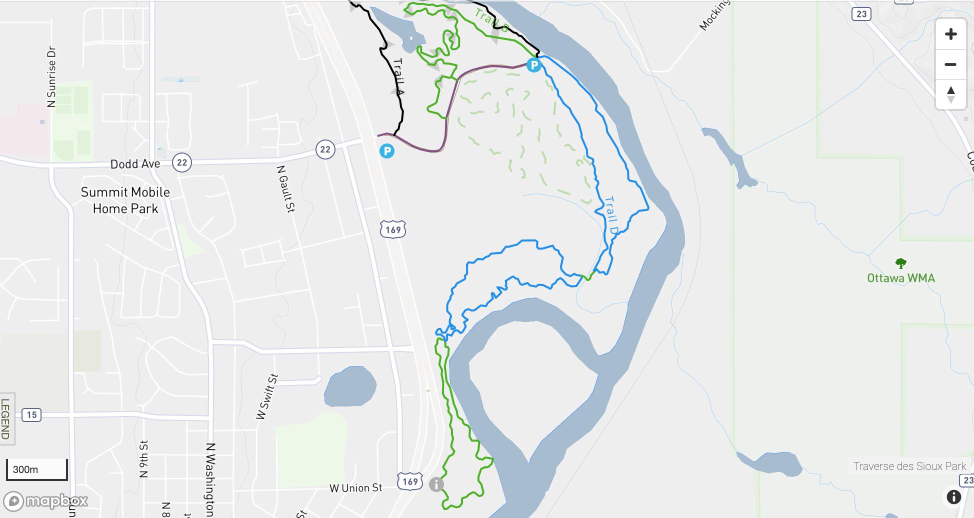 Traverse Des Sioux mountain bike trail map