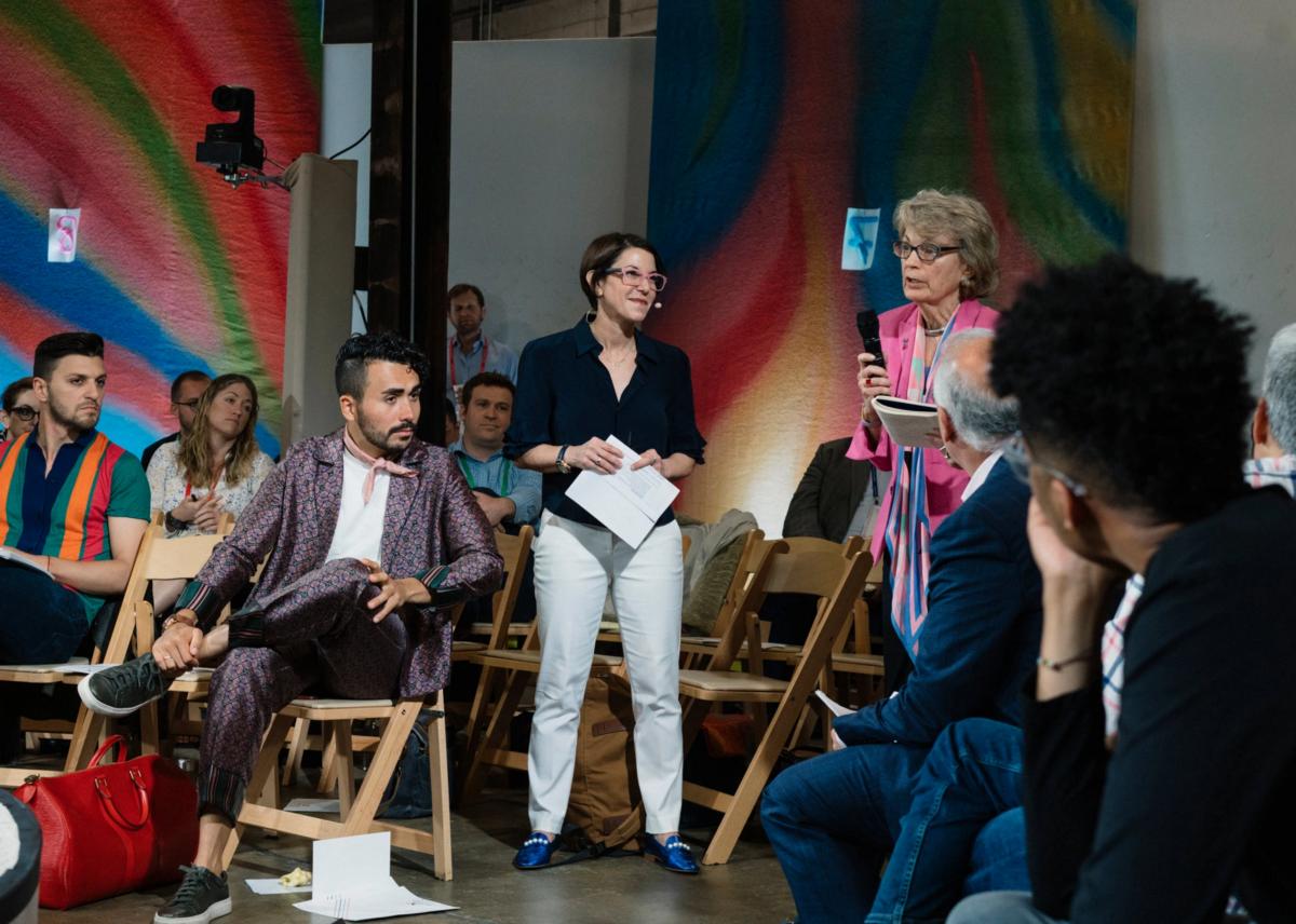 Photograph by Justin T. Gellerson forThe New York Timesin David Brooks' column  on #WeaveThePeople