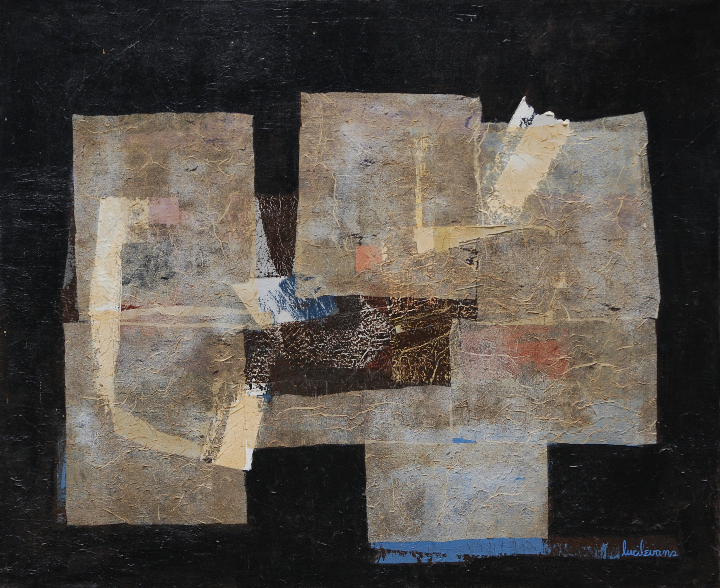 The Third Day, 1962, Casein, acrylic and collage on canvas, 28.5_x34.5_ - 1.jpg