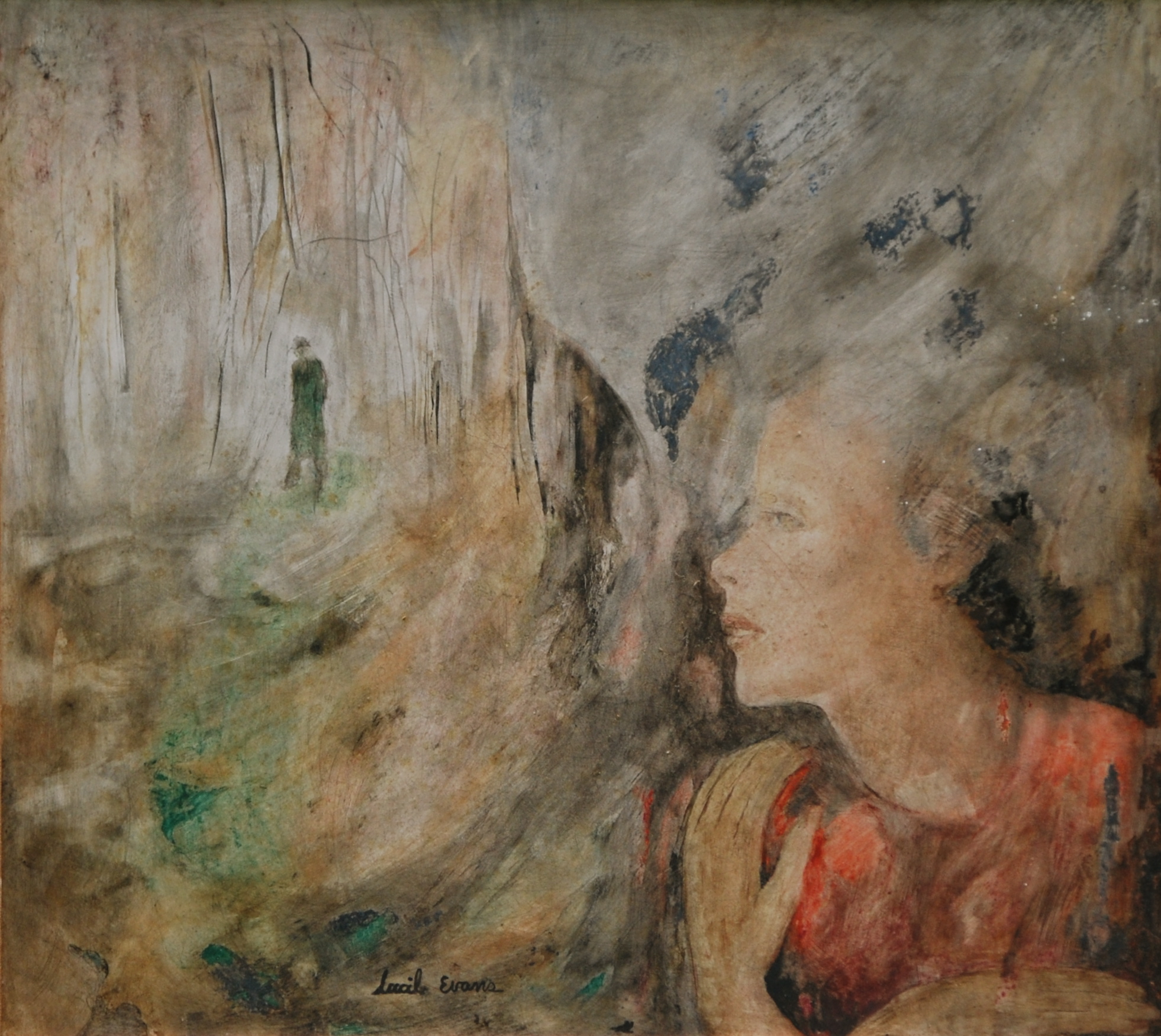 Dream in a Forest (Self-Portrait),1943,waxencaustic of board,17.5x19_.jpg