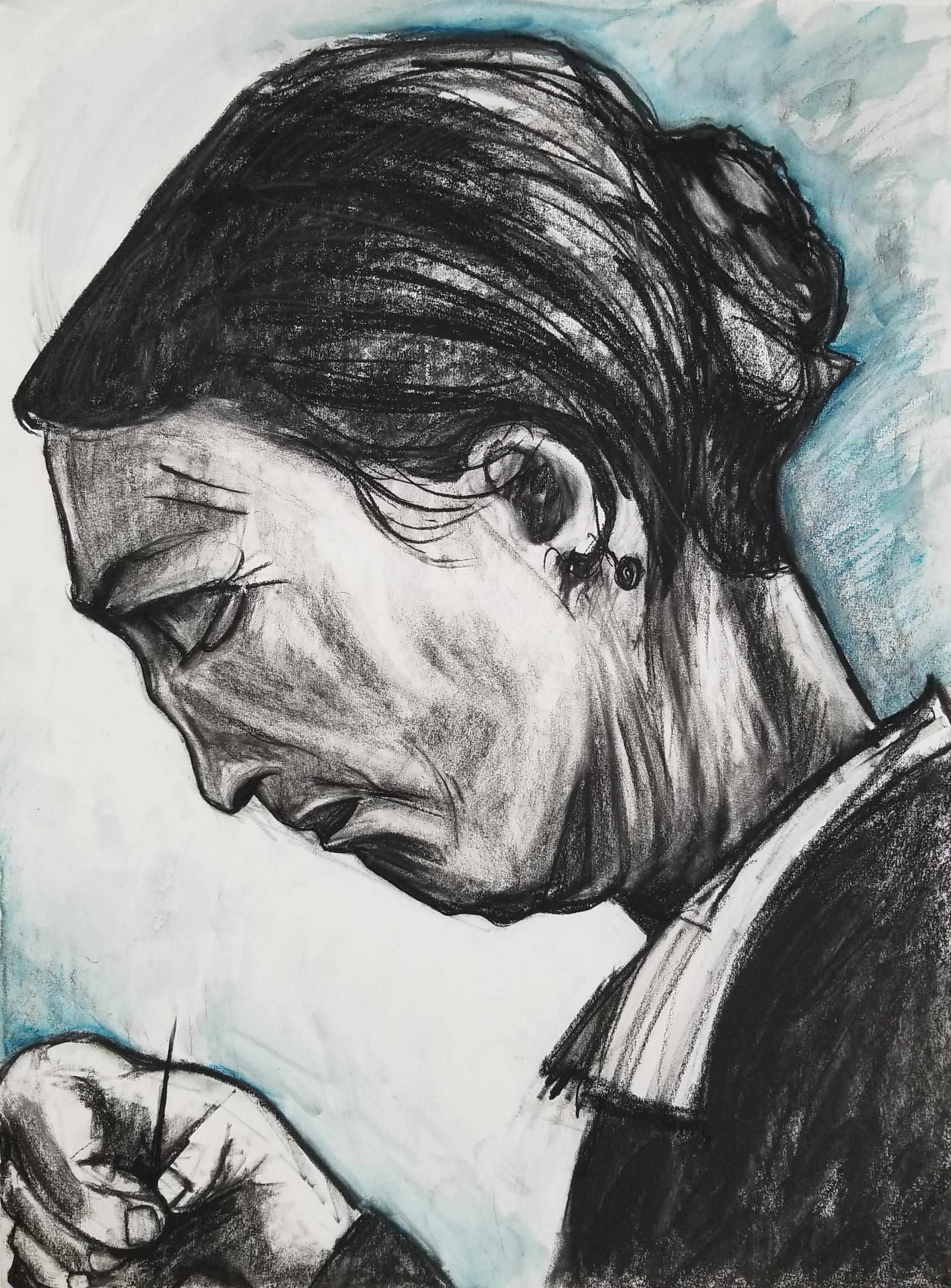 D. Wolfe, Sien Sewing, after Van Gogh
