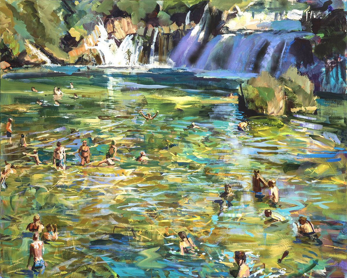 Bathers and Falls