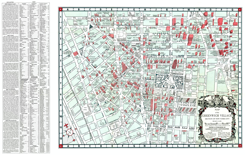 Subway Map Greenwich Village.1961 Greenwich Village Map