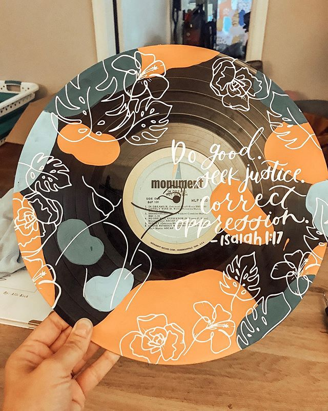 I was so excited to create a design for a sweet customer who wanted to incorporate her time in Sosua, Dominican Republic for a mission trip. . . .  If your want a custom record design please reach out to us!