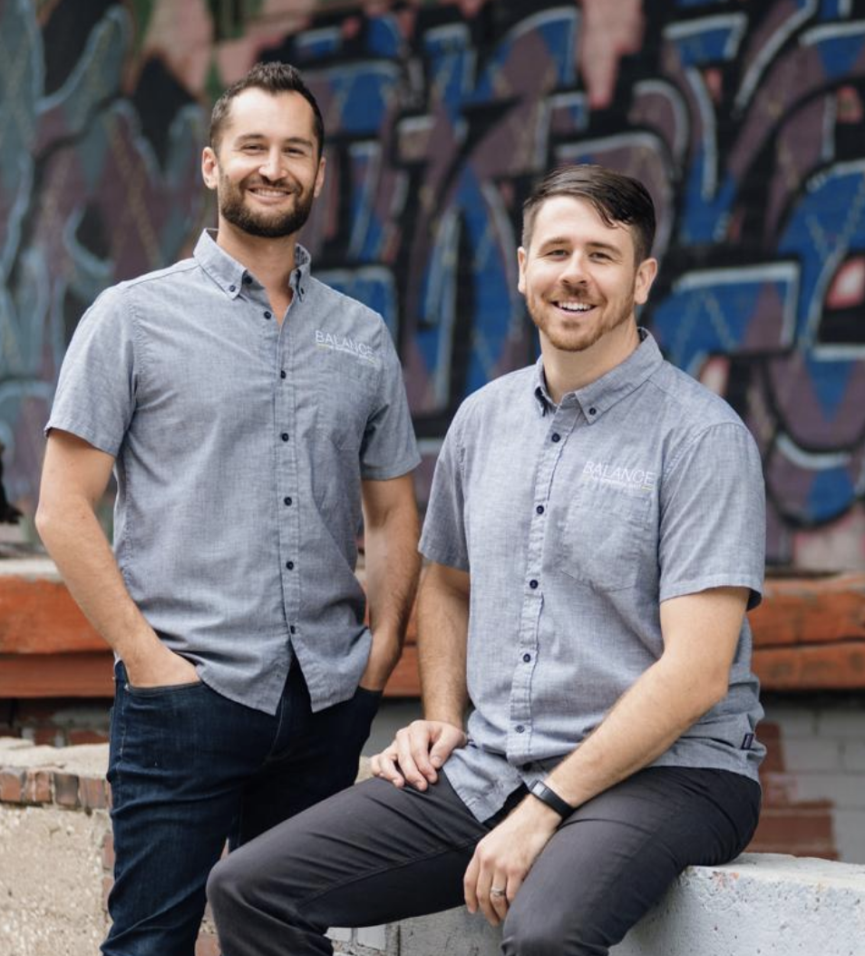 Chris Thowe (left) and Kyle FitzGerald are co-founders of Life Equals, a Roeland Park-based health supplement company.