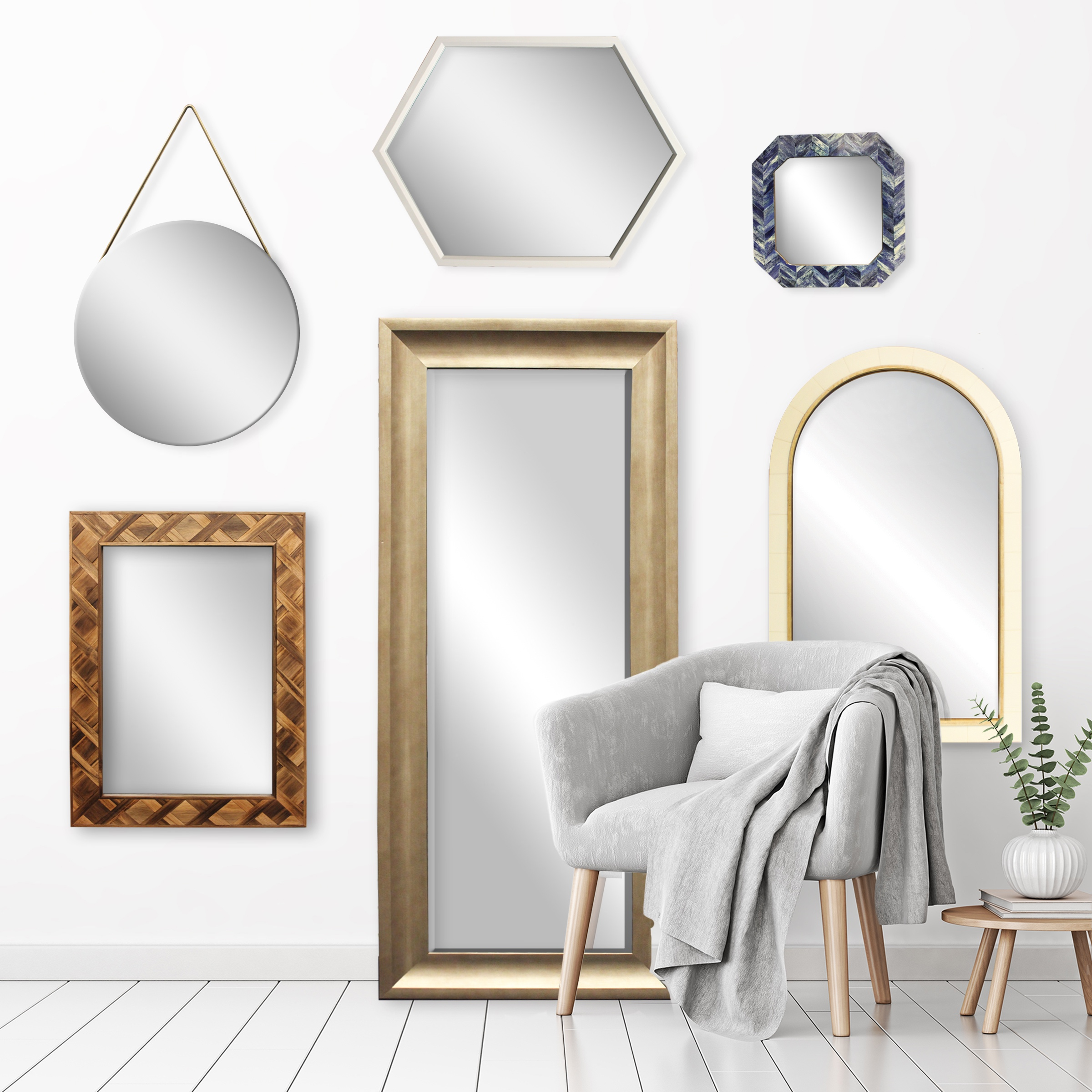 Mirrors - Oversized to decorative and handcrafted collections.