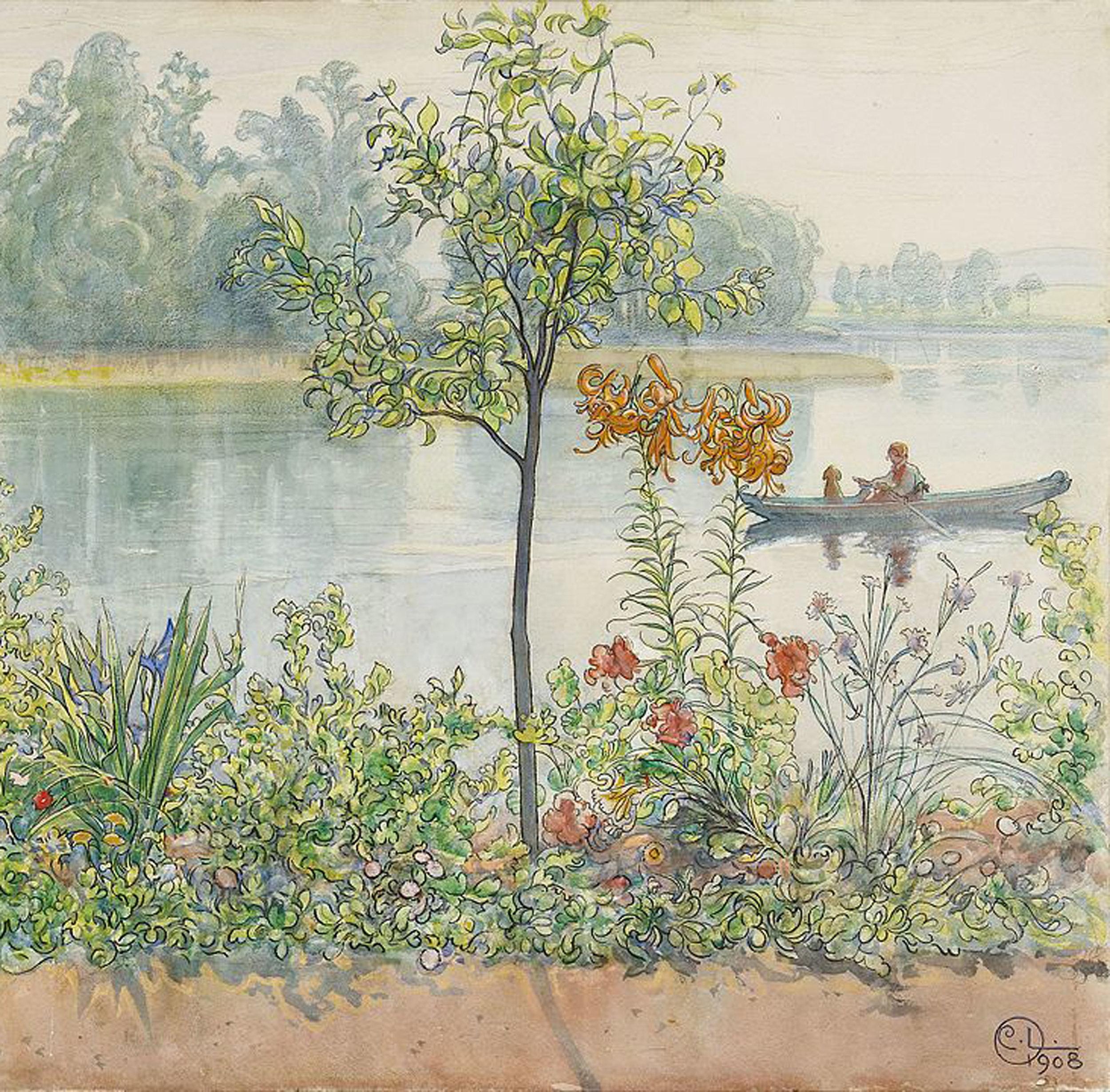 Carl Larsson   Karin by the Shore 1908.jpeg