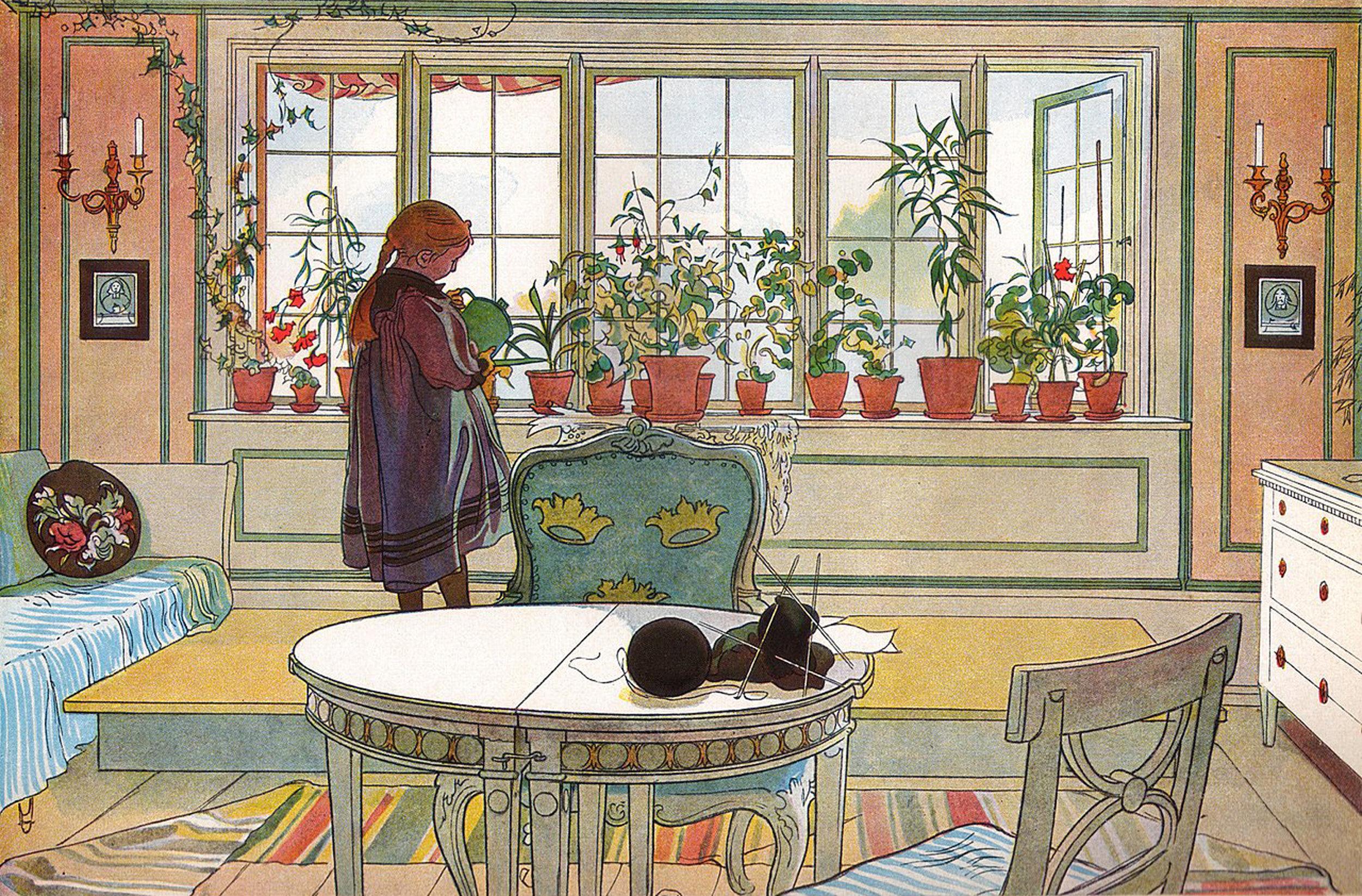 Carl Larsson | Flowers on the Windowsill 1894.jpeg
