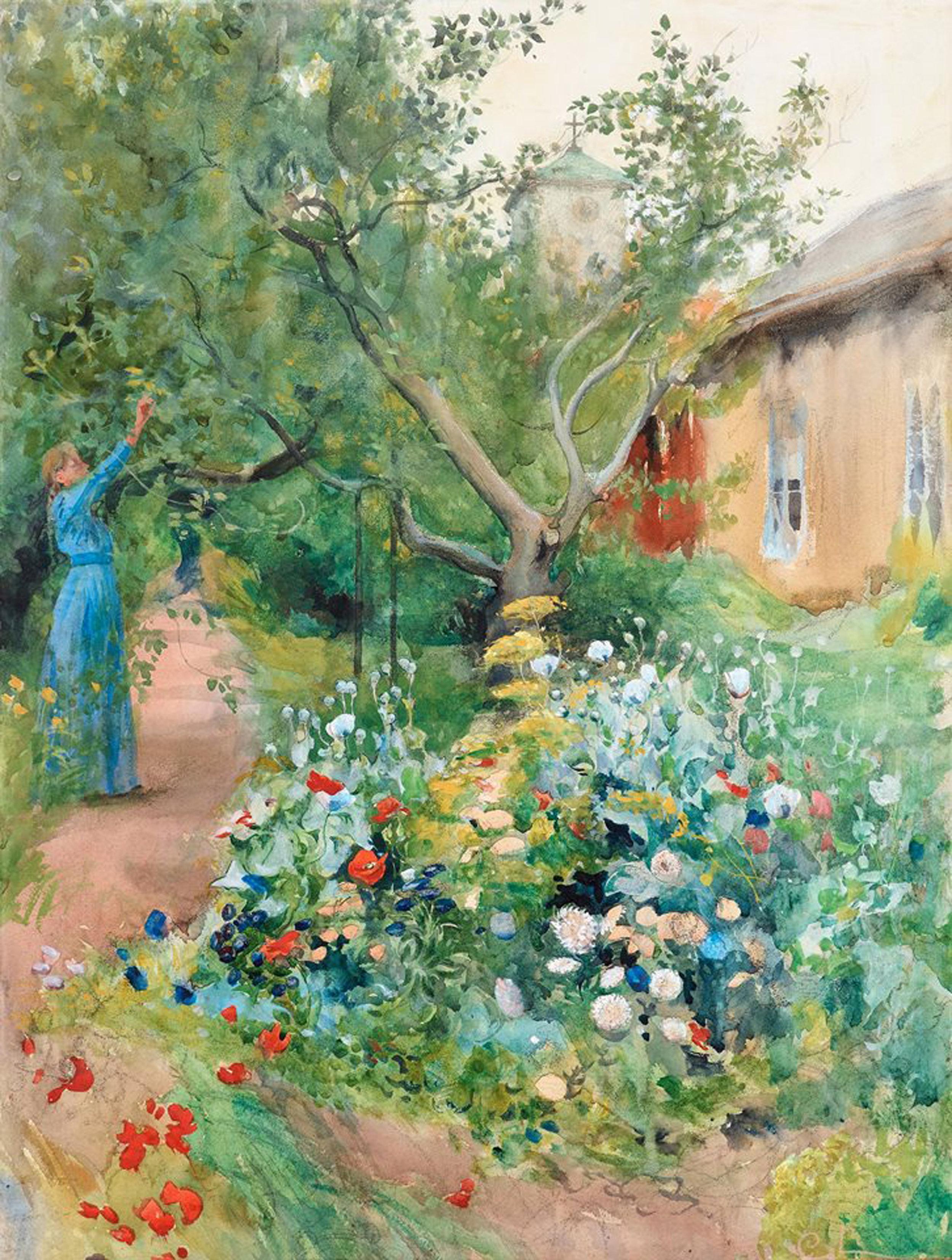 Carl Larsson | Garden scene from Marstrand 1889.jpeg